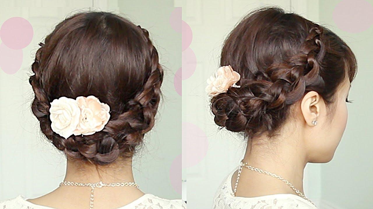 Crochet Hair Up : Crochet Braid Updo Hairstyle for Medium Long Hair Tutorial - Bebexo ...