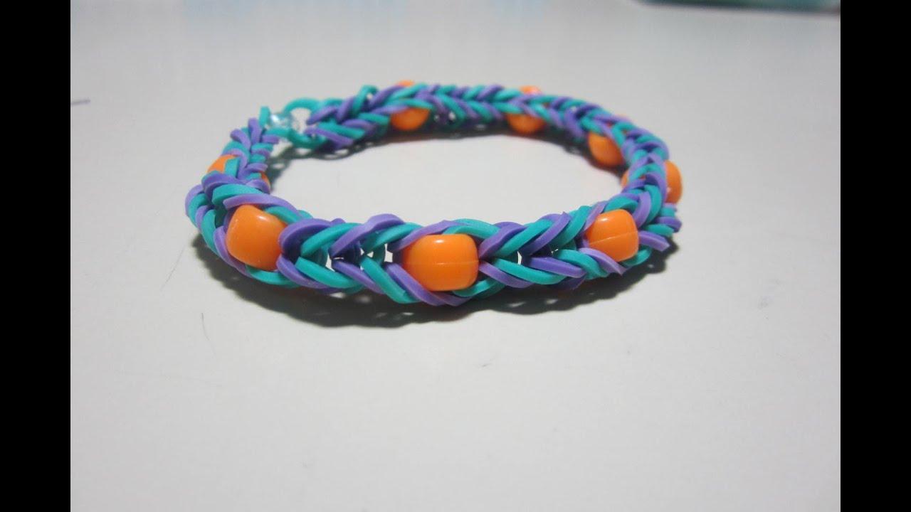 Fishtail Loom Bracelet With Beads Beaded Fishtail Bracelet