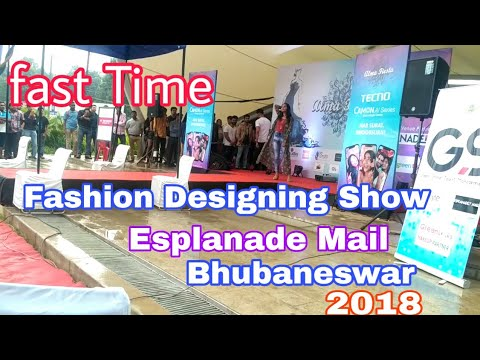 Fast Time fashion designing show in Esplanade Mail, Bhubaneswar 2018,by fashion designing show