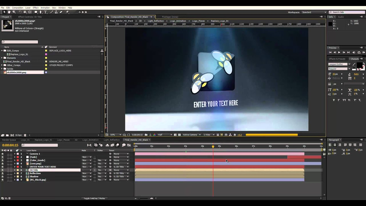 after effects projects Place your characters into other projects in after effects or premiere pro, share them on social media, or stream them live on facebook or tv.