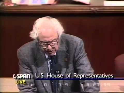 Bernie Sanders on Persian Gulf War (4) [1/17/1991]