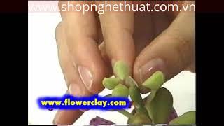 Cách làm hoa đất sét Nhật Bản - Hoa Chavrkuan P2