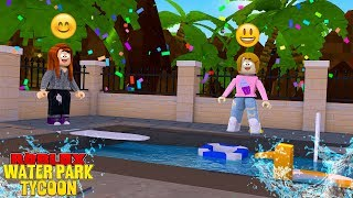 Roblox Waterpark Tycoon With Molly And Daisy!