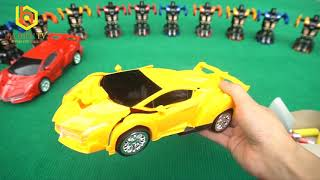 Bá Hiếu TV - ba hieu tv - Đồ Chơi Robot Biến Hình - Yellow Red and Blue Transformer RoBo Car Toys