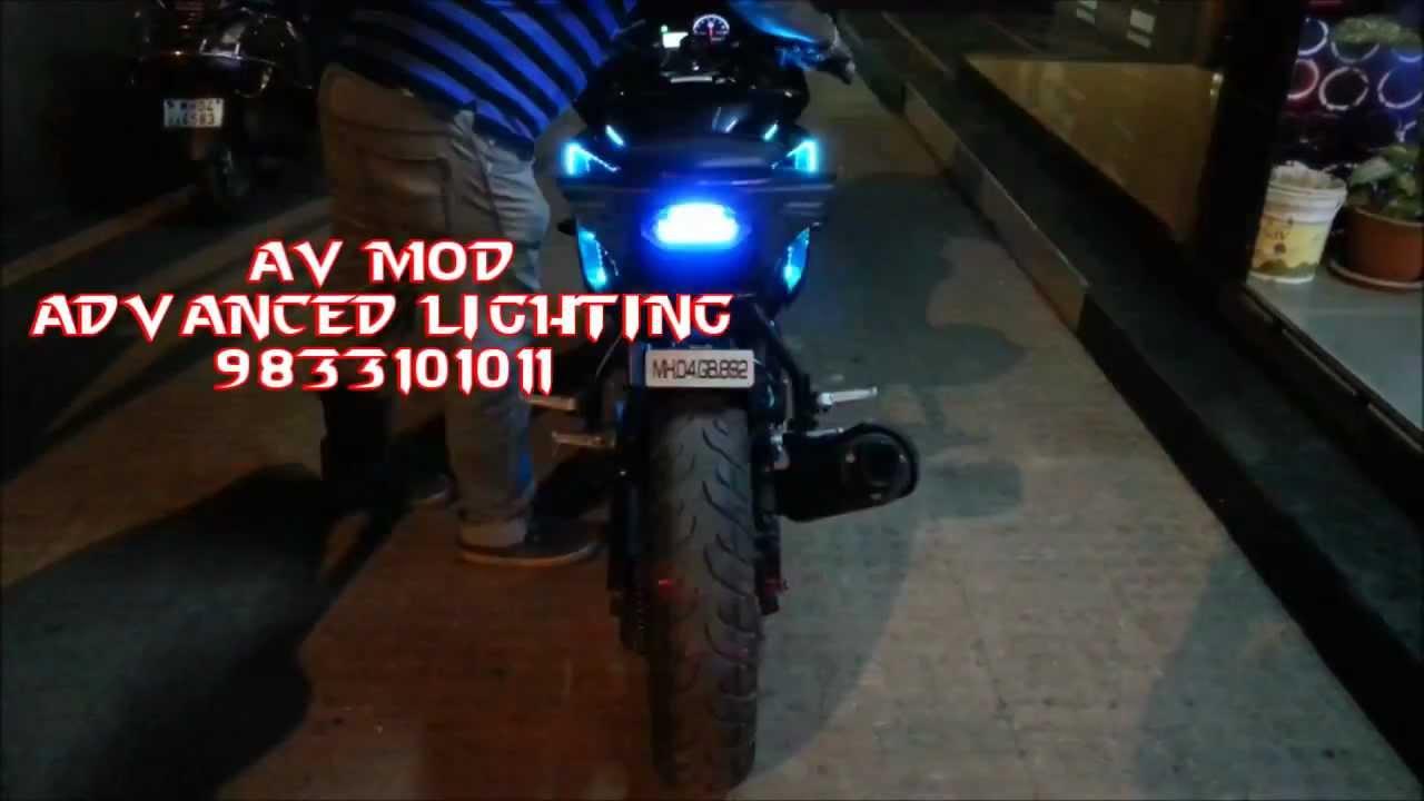 R15 V2 Modified With Projector Lights YAMAHA R15 V2 CUSTOM