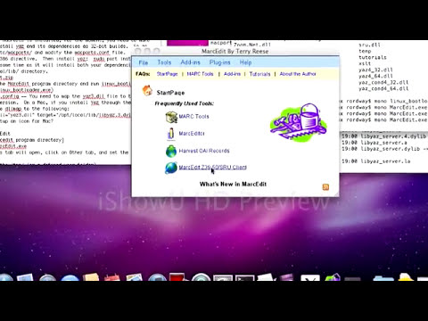 Installing MarcEdit natively on a Mac operating system (specifically 10.6)