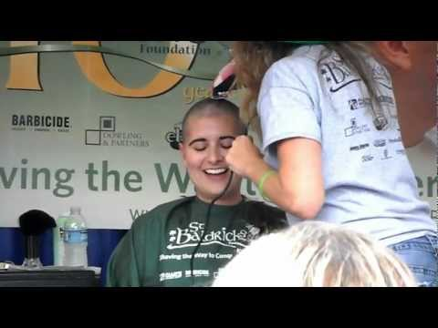 Heather's Long Hair Headshave - St Baldrick's - Finnegan's Wake, Nc - September 24, 2011 video