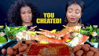 "KING CRAB MUKBANG + ""You weren't faithful back then"""