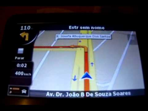 Simulação de Rota para GPS Foston FS-460DT Digital TV