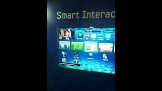 Samsung Smart TV ES8000 'Smart Interaction' Demo