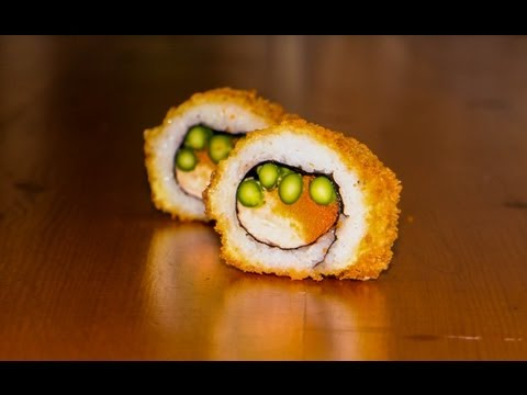 Deep fried sushi roll recipe - delicious crispy tempura sushi food