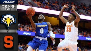 Morehead State vs. Syracuse Condensed Game | 2018-19 ACC Basketball