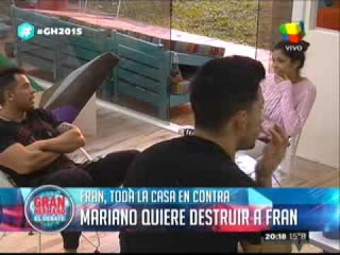 """""""Gran Hermano 2015"""": Mariano, empeñado en destruir a Francisco"""