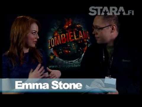 Zombieland Emma Stone Staran haastattelussa