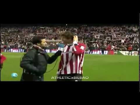 Fernando Llorente Cantando Himno del Athletic Club Bilbao ( Copa Post Partido Mirandes 2012 )