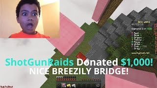 Donating $1,000 to Bedwars Streamers if they Breezily bridge