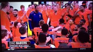 Dino Babers Postgame Locker Room Speech After Their Big Win VS Clemson