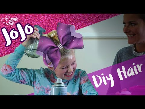 How to make a JoJo Siwa bow Claires from your real hair - hairdressing how to video by Little Legs