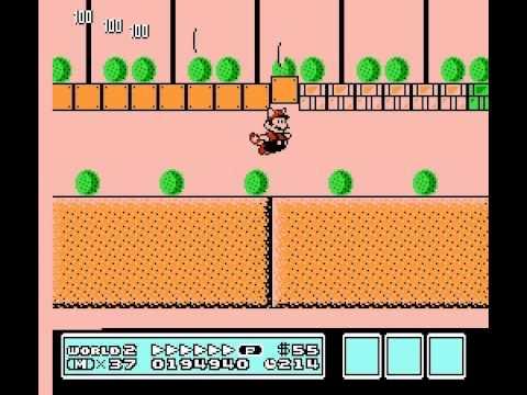 Super Mario Bros 3 - Nintendo NES - secret way to get past World 2-4 - User video