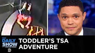 A Toddler Rides an Airport Conveyor Belt & America's Fertility Rate Plummets | The Daily Show