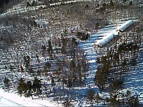 Scenic Winter Flying in Bar Harbor, ME
