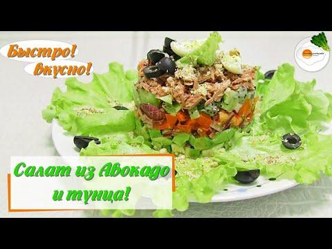 Салат из авокадо с тунцом – простой и вкусный рецепт