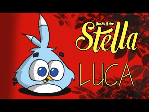 How to draw LUCA from Angry birds Stella!