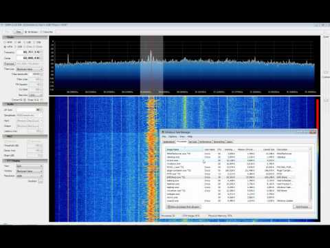 SDR# Rev 304 + EzTV666 RTL2832U, Commercial FM (CPU Usage)