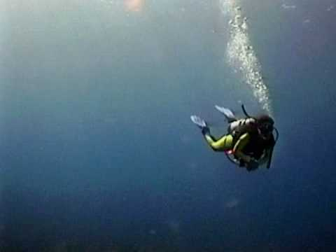 Scuba Diving The Wall off Grand Cayman Islands