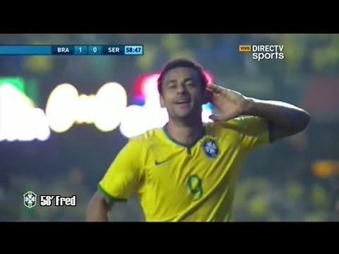 Gol Fred - Brasil 1 Vs Serbia 0 - Amistoso Pre-Mundial