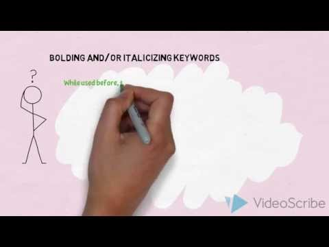 Bolding and/or Italicizing Copy - SEO Tips 2014