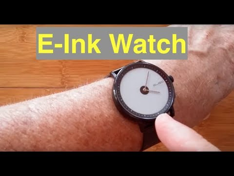 GLIGO E-Ink Fashion Dress Hybrid Analog/Digital IP68 Waterproof Smartwatch: Unboxing & Review