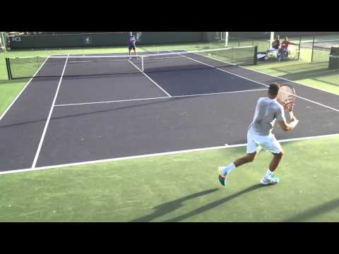 Jo-Wilfried Tsonga Training @ BNP Paribas Open 2014 (3/6/14)