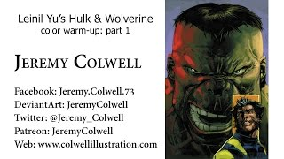 Leinil Hulk & Wolverine process part 1
