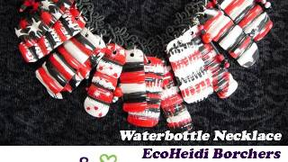 How to Make a Reverse Painted Waterbottle Necklace by EcoHeidi Borchers