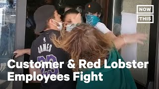 Red Lobster Customer and Employees Fight on Mother's Day | NowThis