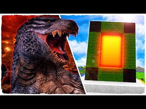 HOW TO MAKE A PORTAL TO THE DIMENSION OF GODZILLA - MINECRAFT