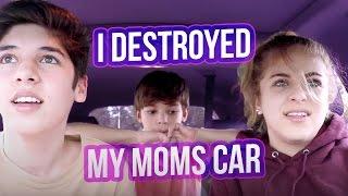I DESTROYED MY MOMS CAR | Baby Ariel
