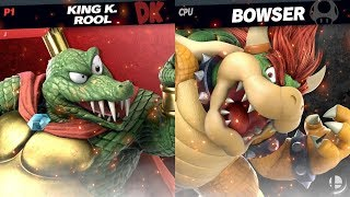 King K. Rool Vs. Bowser | CPU