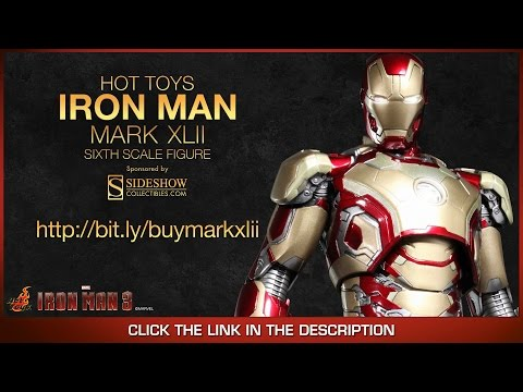 Iron Man 3 Hot Toys Mark XLII Diecast Movie Masterpiece 1/6 Scale Collectible Figure Review