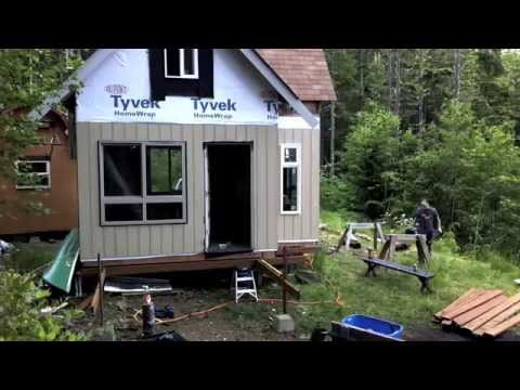 Wilderness Off Grid Cabin - Building Deck