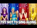 THE SUPER POPS TRY NOT TO SING ALONG CHALLENGE (Can You Not Sing Our Songs?)  Totally TV