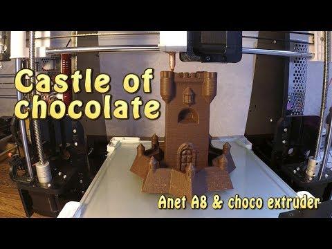 3D-печать шоколадом. Большой замок из шоколада