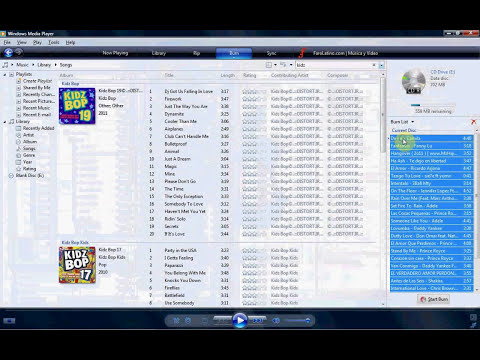 Como Quemar Un CD Con  Windows Media Player