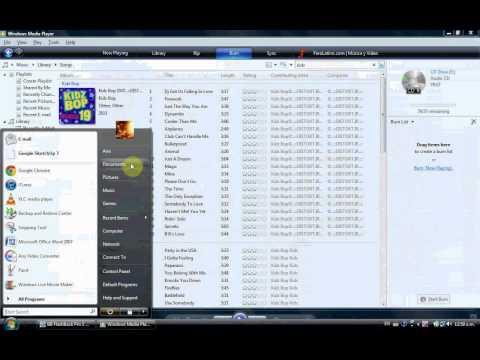 Como Quemar Un CD Con  Windows Media Player