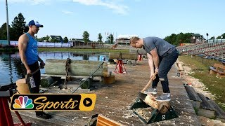 Poor attempt at the chop and saw during 2018 Lumberjack World Championship I NBC Sports