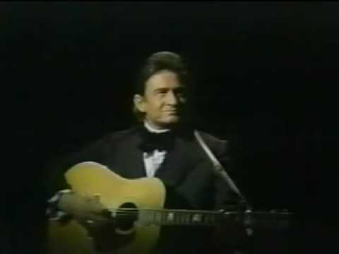 Johnny Cash sings 