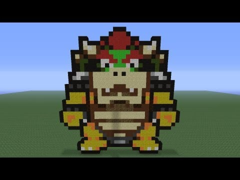 Minecraft Pixel Art: Bowser Tutorial