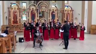 Evening Prayer by Ola Gjeilo - Kyiv Polytechnic Student Choir (cello solo)