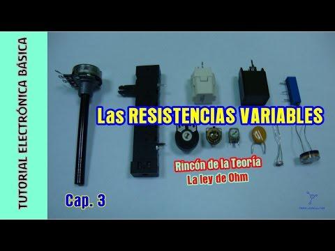 Tutorial Electrónica Básica. Cap 03. Resistencias variables + Ley de Ohm